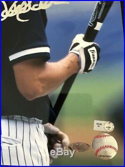 DEREK JETER Autographed 11x14 Photo Yankees Extremely Rare Steiner COA Hologram