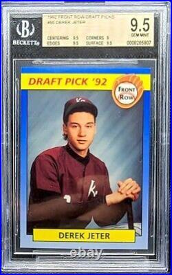 DEREK JETER BGS 9.5 / 1992 Front Row Draft Picks Rookie Prospect Non Auto RARE