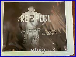 DEREK JETER COA STEINER 16x20 RARE RE2PECT PHOTO BLACK AND WHITE NY YANKEES