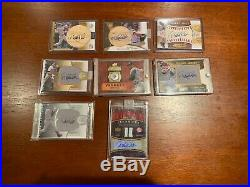 DEREK JETER Lot Of 8 Autographed/Limited Edition Jersey Bat Button Cards RARE