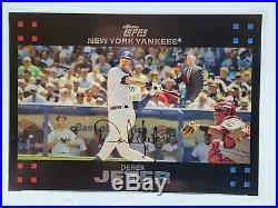 DEREK JETER PSA 9 TOPPS BUSH / MANTLE NY Yankees LOW POP RARE MINT HOF /