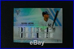 DEREK JETER RARE 2015 Topps Triple Threads 12 GU Jerseys /3 Yankees WOW