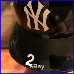 DEREK JETER Yankees 2014 Game Used Batting Helmet Steiner Hologram VERY RARE