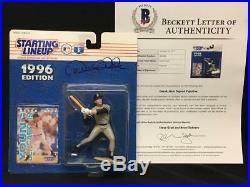 DEREK JETER Yankees RARE Signed Auto 1996 Starting Lineup SLU BAS BECKETT LOA