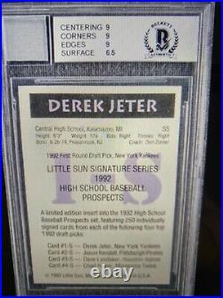 DEREK Jeter signed autographed Little Sun LS Proof card RARE auto Beckett 8 1992