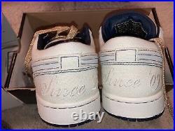 DS Nike Air Jordan 1 Derek Jeter Phat Low Canvas 10 Rare New Dead stock BNIB