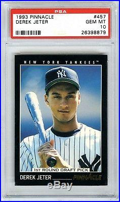 Derek Jeter1993 Pinnacle #457 Rare Psa-10 Gem-mt Hot Rookie Rc Baseball Card