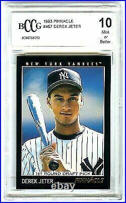 Derek Jeter1993 Pinnacle Bccg-10 Mint+ Rare Beckett Graded Rookie Rc Card #457