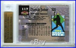 Derek Jeter1993 Stadium Club Murphy Rare Bgs-9.5 Gem-mt Hot Rookie Rc Card #117