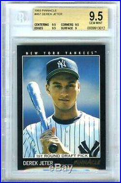 Derek Jeter2020 Hof1993 Pinnacle #457 Rare Bgs-9.5 Gem-mint Hot Rookie Rc Card