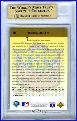 Derek Jeter2020 Hof1993 Upper Deck #449 Rare Bgs-9.5 Gem-mt Rookie Rc Card