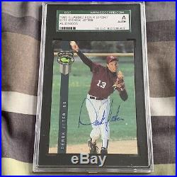 Derek Jeter 1992 Classic 4 Sport Signed Autograph Rookie Card HOF NYY WS Rare