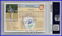 Derek Jeter 1992 Front Row #55 RARE 1st YR SET AUTOGRAPH /500 ROOKIE PSA 8 NICE
