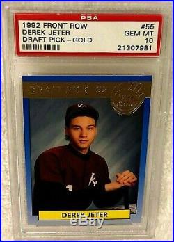 Derek Jeter 1992 Front Row Draft Picks Gold Foil Rookie #55 Psa 10 Rare Pop 14
