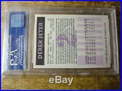 Derek Jeter 1992 Little Sun high school #2 PSA 9 mint RARE 3117