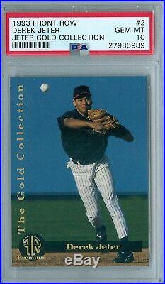Derek Jeter 1993 Front Row Gold Collection Rc Rookie #2 Psa 10 (pop 40) Rare