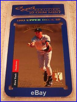 Derek Jeter 1993 Sp Foil Rookie #279 Csa 10 Gem Mint Very Rare New York Yankees
