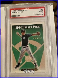 Derek Jeter 1993 Topps SP Gold Rookie Card RC PSA 9 Mint Rare Yankee Legend