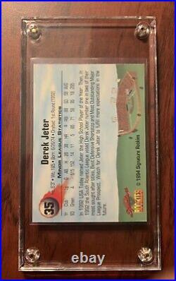 Derek Jeter 1994 Signature Rookies #35 Yankees RC Auto /Rare/ PSA/HOFOriginal