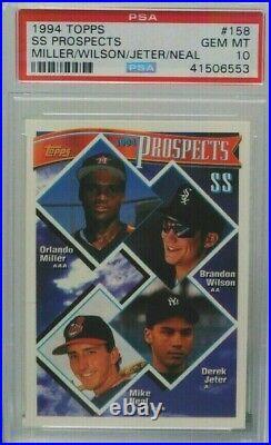 Derek Jeter 1994 Topps SS Prospects Rookie RC PSA 10 Gem Mint Invest now rare rc