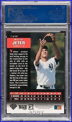 Derek Jeter 1994 Upper Deck Rookie Card Rc Next In Line # 7 Rare Low Pop Psa 10