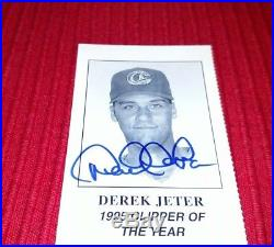 Derek Jeter 1995 Columbus Clippers of the Year Banquet Ticket Stub AUTO-RARE