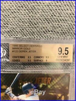 Derek Jeter 1995 Select Certified Mirror Gold (BGS GRADED 9.5!) RARE ROOKIE