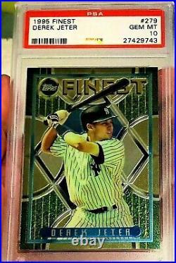 Derek Jeter 1995 Topps Finest Foil Rookie #279 Psa 10 Pop 37 Very Rare Yankees