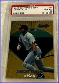 Derek Jeter 1996 Bowman's Best Gold Foil Rookie #79 Psa 10 Pop 57 Rare Yankees