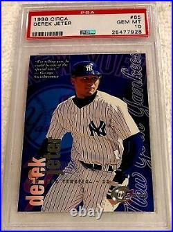 Derek Jeter 1996 Fleer Circa Silver Foil Rookie #65 Psa 10 Pop 14 Rare Yankees