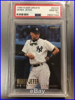 Derek Jeter 1996 Fleer Update Rookie #u226 Psa 10 Gem Mint Pop 73 Rare Yankees