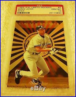 Derek Jeter 1996 Leaf Limited Rookies Gold Foil Rookie #4 Psa 10 Gem Mint Rare