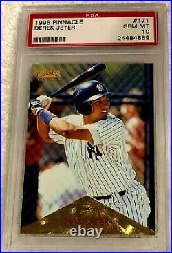 Derek Jeter 1996 Pinnacle Gold Foil Rc #171 Psa 10 Pop 45 Very Rare Yankees