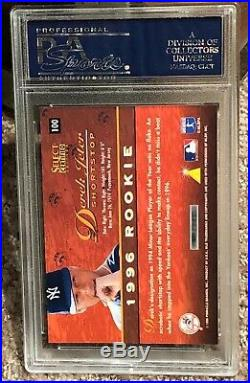 Derek Jeter 1996 Select Certified Blue Foil Rookie #100 Extremely Rare Pop Psa 9