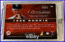 Derek Jeter 1996 Select Certified Blue Foil Rookie #100 Extremely Rare Yankees