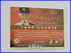 Derek Jeter 1996 Select Certified Red #100 Rookie Rc Parallel Rare