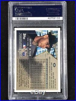 Derek Jeter 1996 Topps Chrome RC #80 PSA 10 POP 40 Rookie The Captain HOF RARE