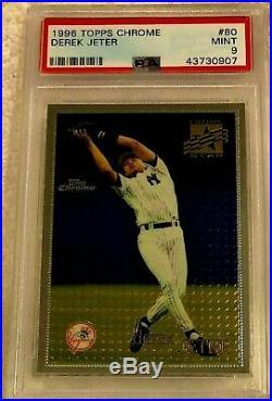 Derek Jeter 1996 Topps Chrome Silver Foil Rookie #80 Psa 9 Mint Rare Yankees