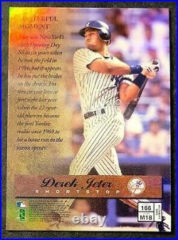 Derek Jeter 1997 Finest Gold Refractor #166 RARE NRMT Yankees