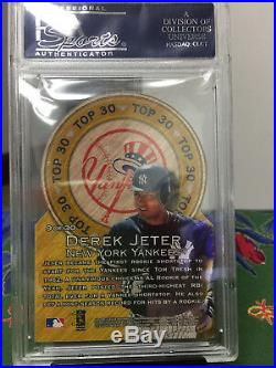 Derek Jeter 1997 Ultra Top 30 Gold Medallion Rare Insert Psa Gem Mint 10 Yankees