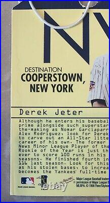 Derek Jeter 1998 E-X 2001 DESTINATION COOPERSTOWN with STRING! 1720 Packs RARE