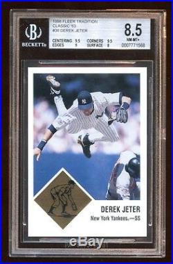 Derek Jeter 1998 Fleer Classic's 63 #d 027/63 Super Rare Jeter Early Insert Hof