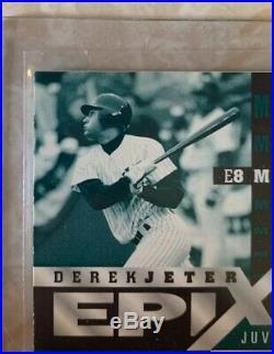 Derek Jeter 1998 Zenith Epix Moment Emerald #e8 Only 30 Made! Very Rare