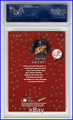 Derek Jeter 1999 Metal Universe SP Linchpins Rare Foil PSA GEM MT 10 pop 5