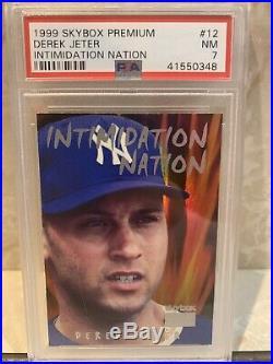 Derek Jeter 1999 Skybox Premium Intimidation Nation Serial 46/99 HOF Rare! Psa 7