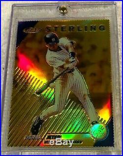 Derek Jeter 1999 Topps Finest Gold Refractor #258 Serial #004/100 Rare Yankees