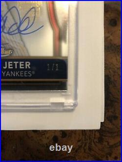 Derek Jeter #1/1 Autograph Auto /1 Rare Topps Finest Archives Post Season Series
