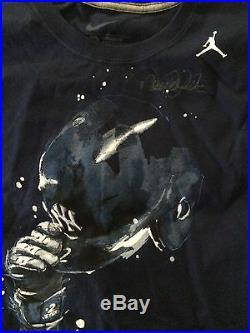 Derek Jeter 1/1 Signed 3000 Hit Jordan T-shirt- Jsa Full Letter -rare