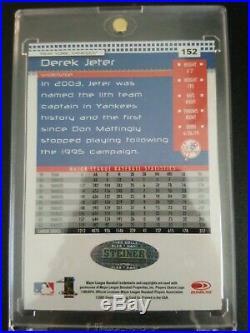 Derek Jeter 1 of 1 1/1 on card autograph true 1 of 1 rare baseball card HOF 2020