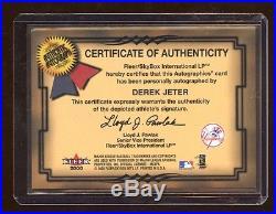 Derek Jeter 2000 Gold Autographics Auto #d /50 Amazing Rare Jeter Autograph Hof